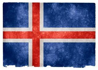 Islândia grunge bandeira