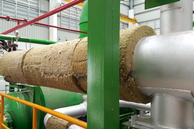 Isolamento de tubo de vapor para turbina a vapor de usina