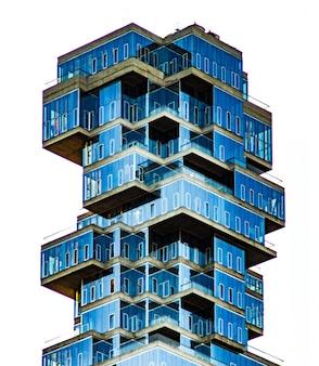 Isometría pequeno telhado fachada isométrica