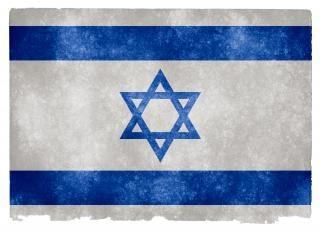 Israel bandeira do grunge sujo