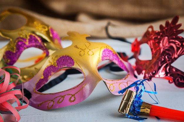 Itens de festa de carnaval