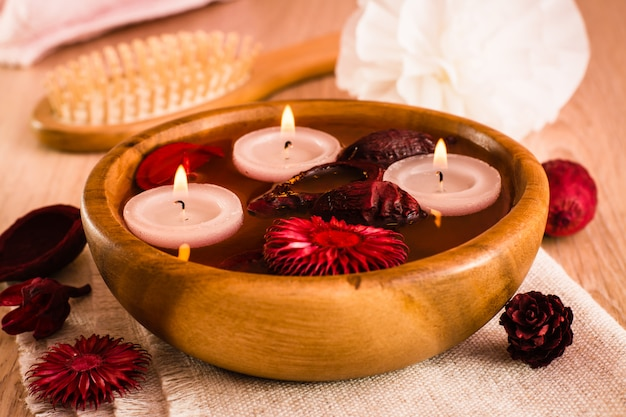 Itens para tratamentos de spa
