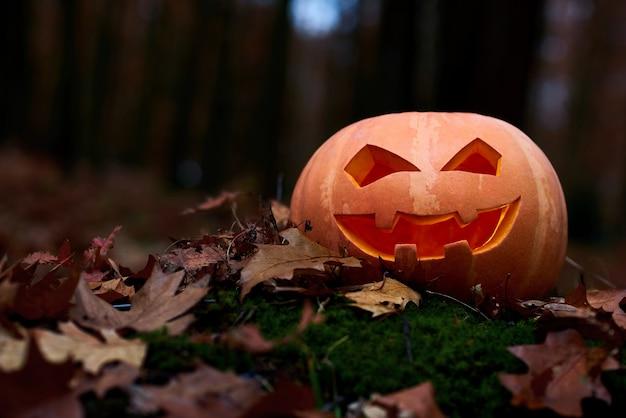 Jack enfrenta a lanterna de halloween com uma vela dentro colocado