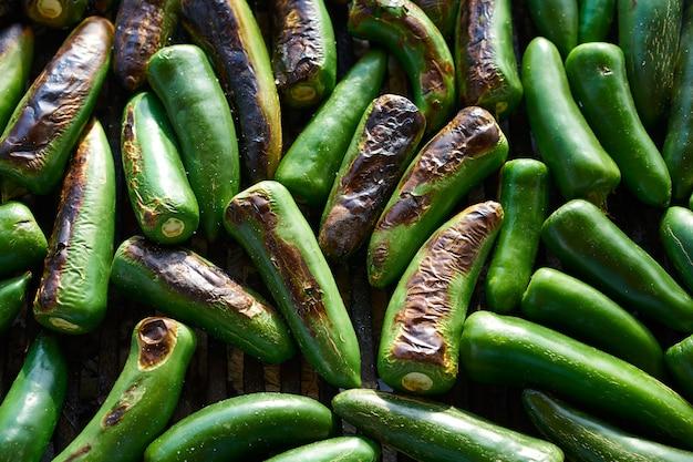 Jalapeno chiles churrasco grelhado no méxico
