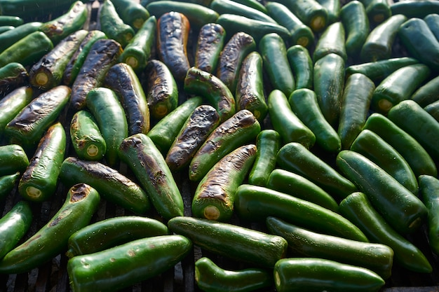 Jalapeno chiles churrasco grelhado no méxico