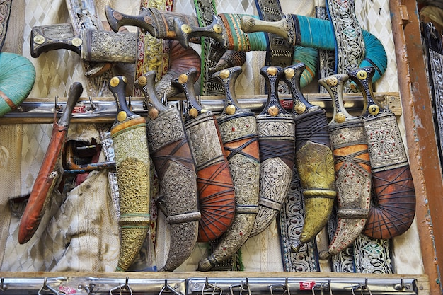 Jâmbia no mercado local em sana'a, iêmen