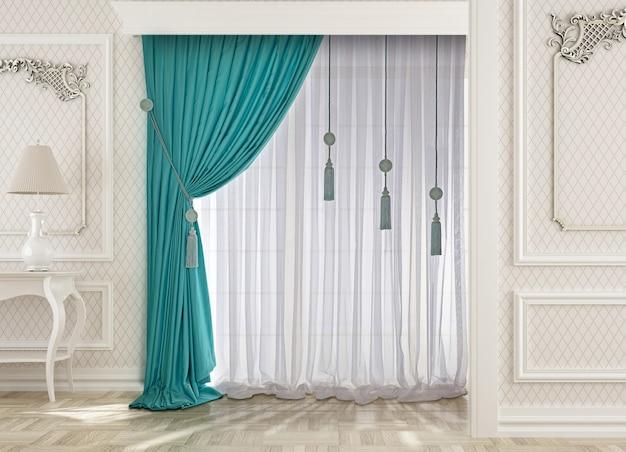 Janela com decoração cortina