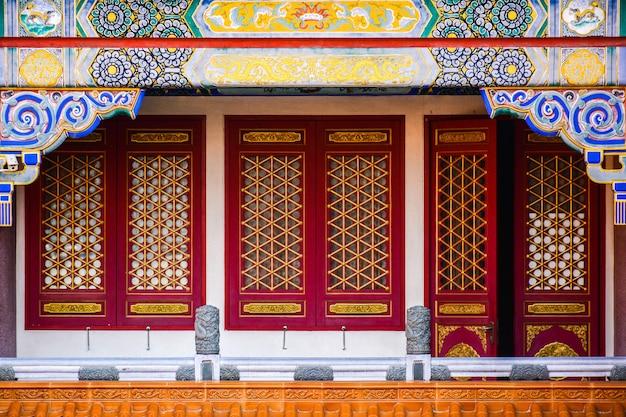 Janela de madeira chinesa clássica