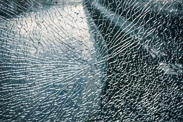 Janela rachada fundo de vidro quebrado