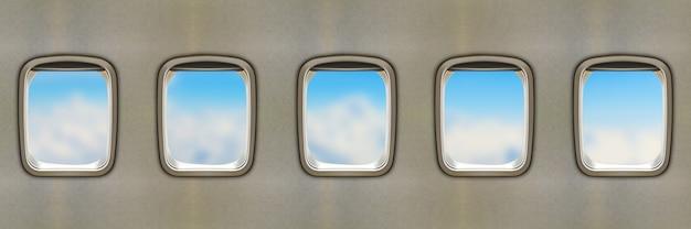 Janelas do avião