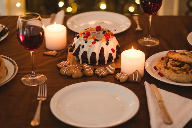 Jantar festivo de feriado.