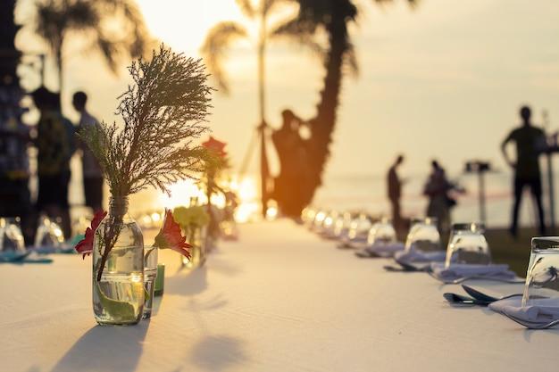 Jantar na praia