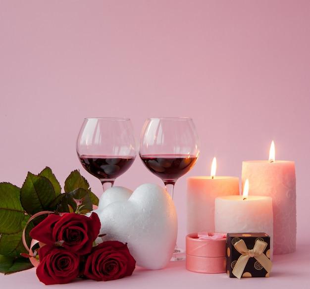 Jantar romântico no dia dos namorados