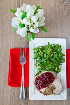 Jantar saboroso e saudável