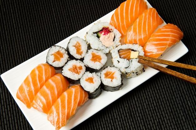Japão comida frutos do mar gourmet detalhe cozinha