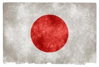 Japão grão bandeira do grunge