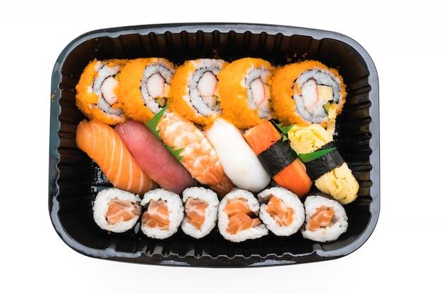 Japonês de frutos do mar arroz cultura vermelho
