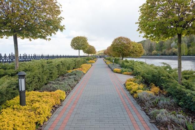Jardim com paisagem topiária