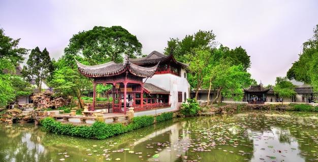 Jardim do humilde administrador, o maior jardim de suzhou, china