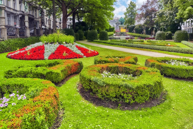 Jardim do pequeno sablon (jardin du petit sablon), bruxelas, bélgica.