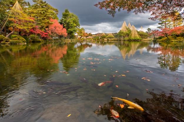 Jardim kenrokuen no japão