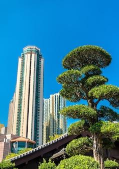 Jardim nan lian, um jardim clássico chinês em hong kong, china