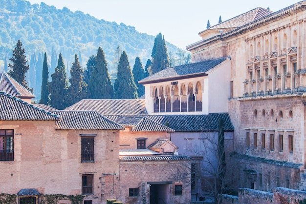 Jardins de alhambra de granada, espanha.