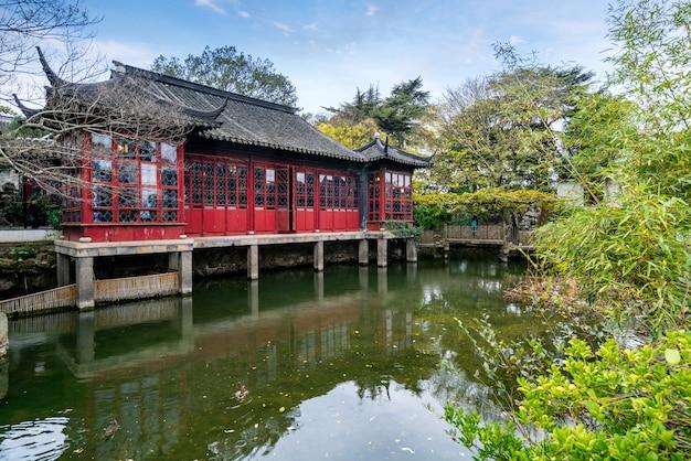 Jardins de suzhou, humilde administrador do jardim em suzhou, china