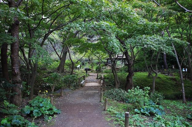 Jardins sankeien em yokohama, japão