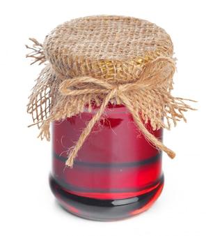 Jarra de vidro com doce mel