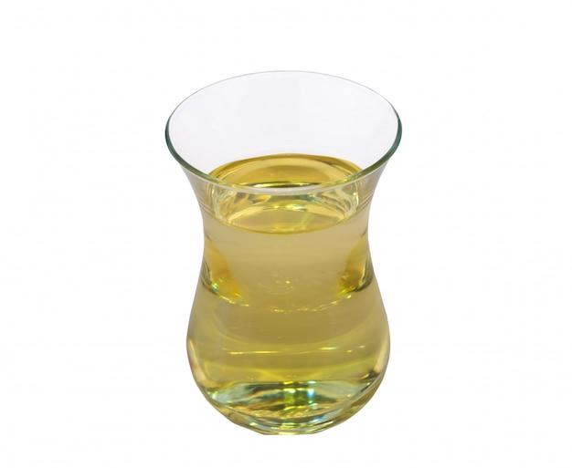 Jarra de vidro com óleo isolado