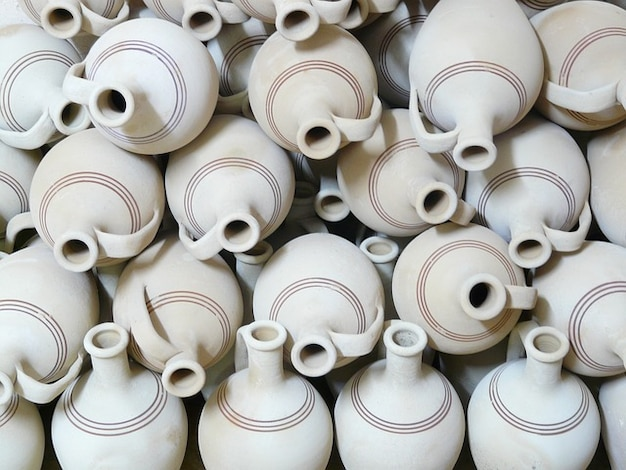 Jarros de cerâmica de barro material de barro frágil