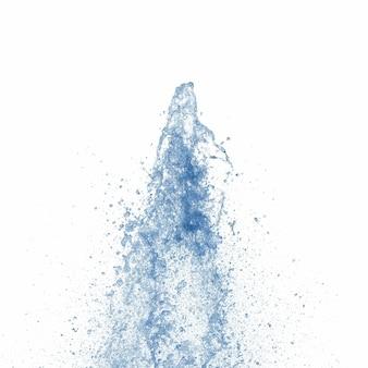 Jato de água azul