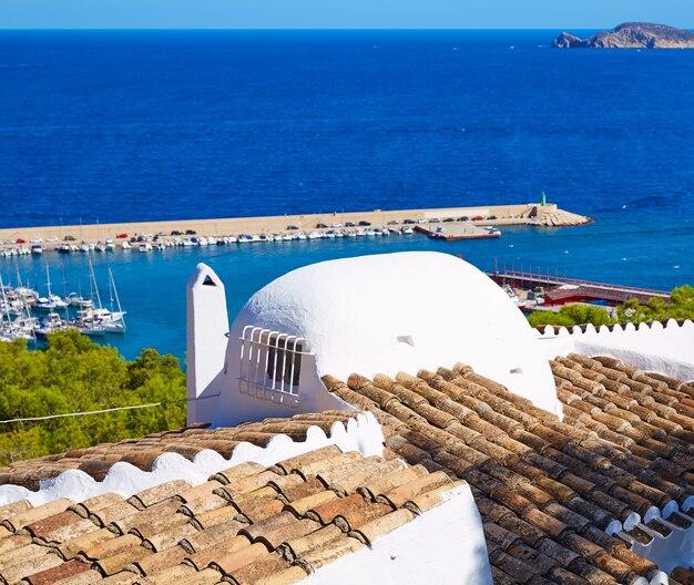 Javea xabia aldeia aérea no mediterrâneo espanha