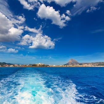 Javea xabia horizonte do mar mediterrâneo espanha