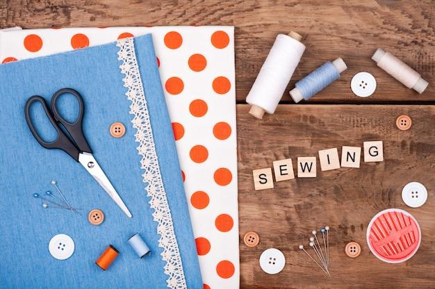 Jeans e tecido de algodão para costura, rendas e acessórios para bordado