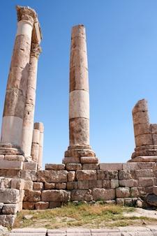Jerash antigo, ruínas da cidade greco-romana de gera na jordânia