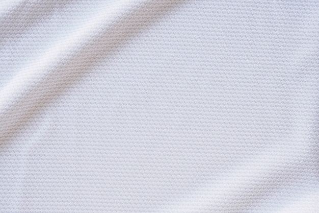 Jérsei de futebol branco roupas textura de tecido esportes desgaste plano de fundo