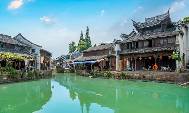 Jiangnan water township na antiga cidade de zhejiang