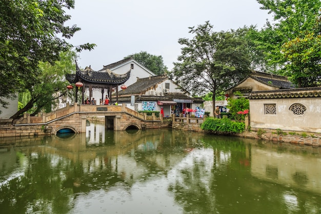 Jiangnan water village suzhou ancient town street