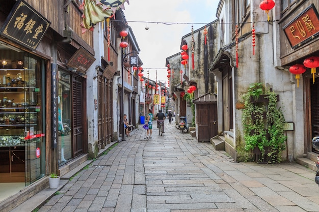 Jiangnan water village suzhou ancient town street
