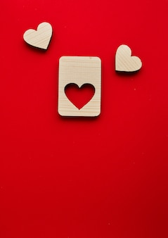 Jigsaw valentines day wooden hearts