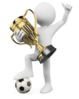 Jogador de futebol 3d - campeão mundial