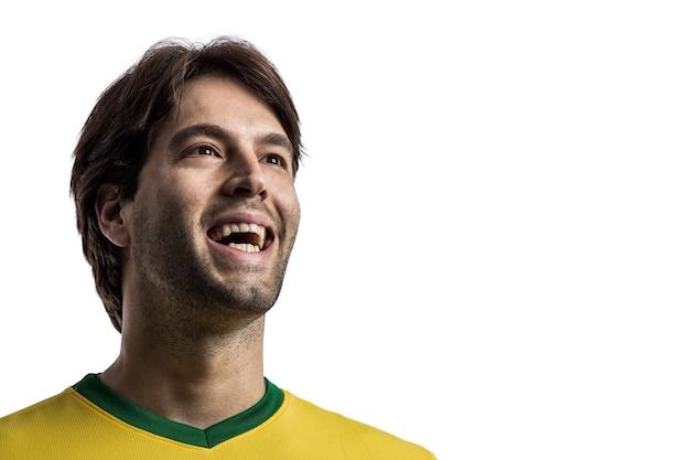 Jogador de futebol brasileiro, comemorando