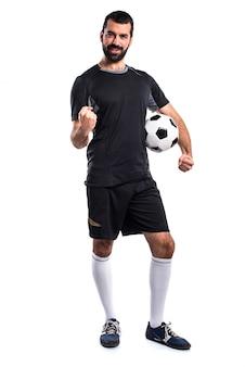Jogador de futebol de sorte