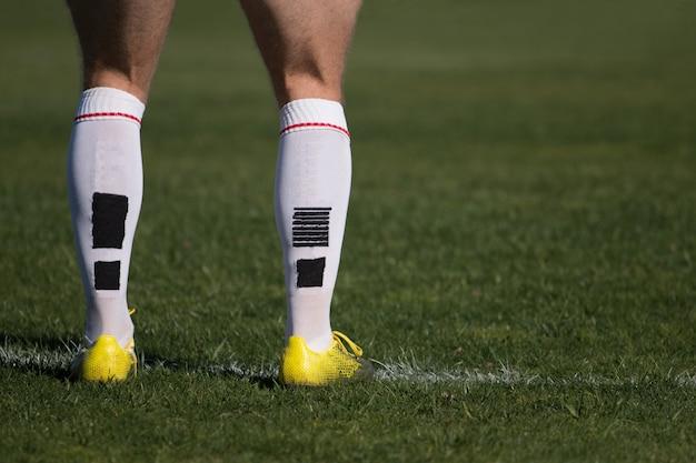 Jogador de rugby em pé