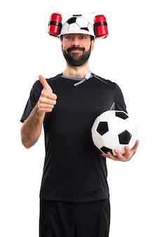 Jogando humor pessoa treinando profissional