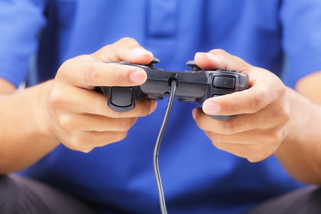 Jogando um jogos de computador