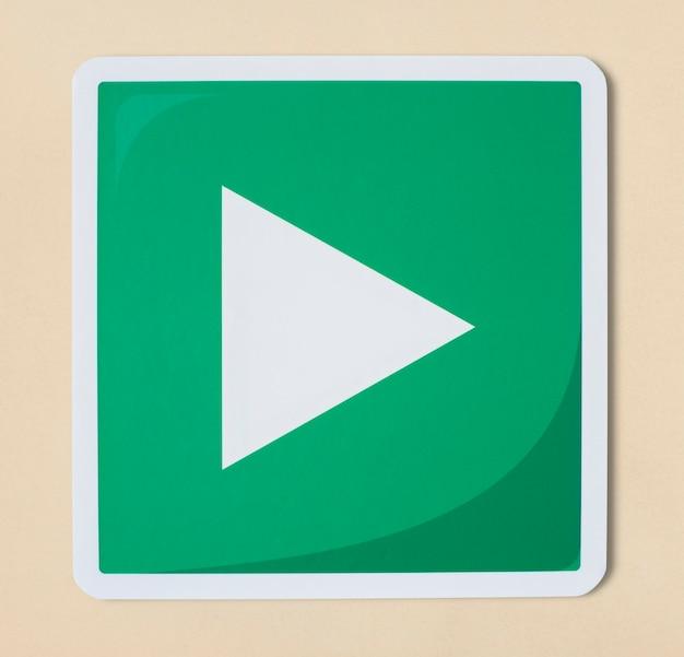 Jogar ícone de tecnologia de sinal de mídia