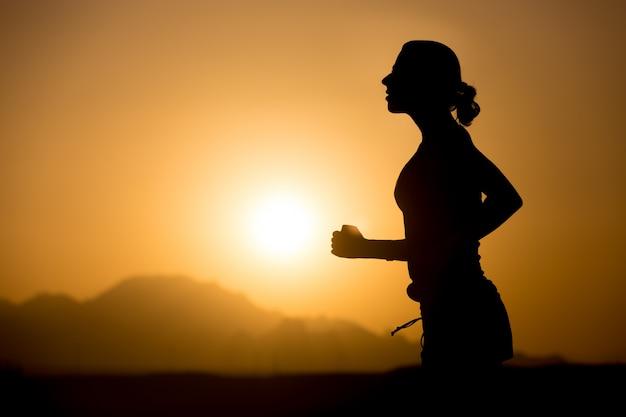 Jogging nas montanhas